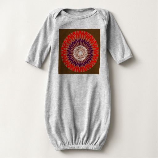 Baby Long Sleeve Gown GRAPHIC Flower Chakra T Shirts