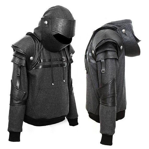 Knight Hoodie-Fleece Hoodie-Costume Hoodie-Hooded Sweatshirt-Medieval Costume-Knight Costume-Game costume/Warrior Duncan knight hoodie