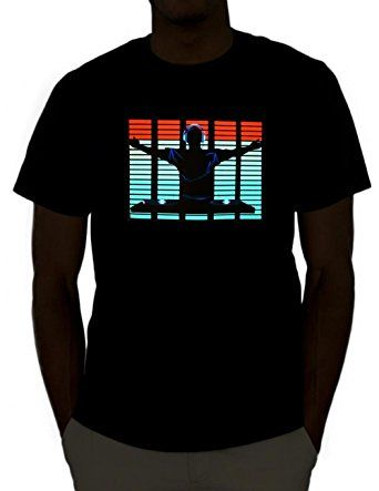 Emazing Lights DJ Sound Activated Light Up Rave Shirt #tshirt #led #clothes #technology #light #up