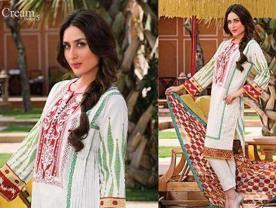Kareena Kapoor for Faraz Manan's Crescent Lawn Collection.