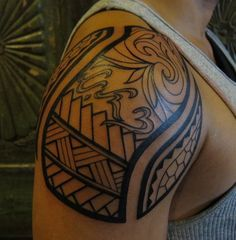 Filipino tribal shoulder tattoo