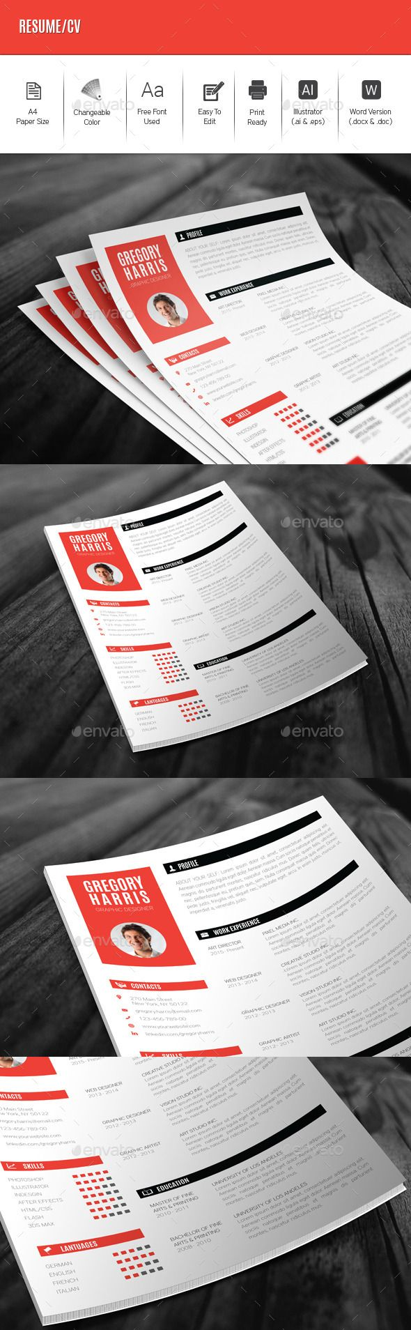 #Resume/CV - Resumes Stationery Download Here: https://graphicriver.net/item/resumecv/12513121?ref=suz_562geid