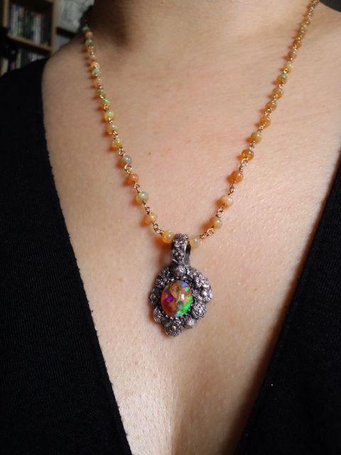 カンテラオパールネックレス&トップ Cantera Opal necklace&Top