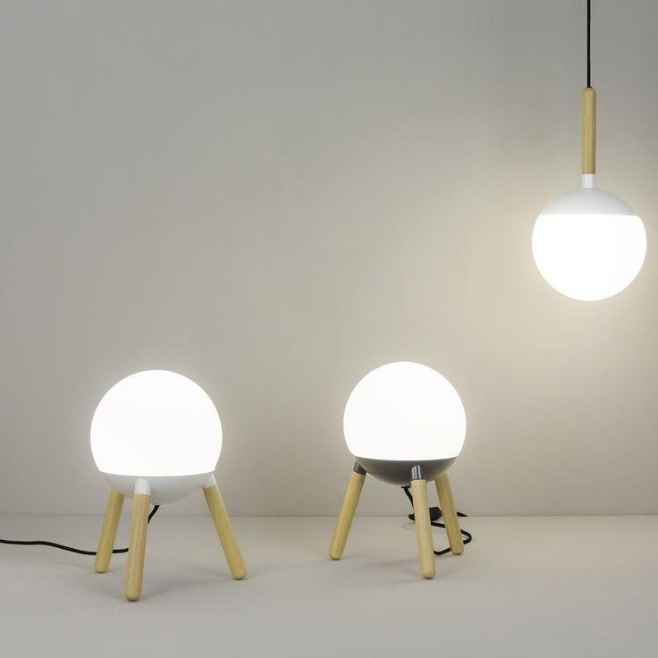 Lampa de masa / Veioza design modern minimalist MINE Grey 28379 Faro Barcelona - Corpuri de iluminat, lustre, aplice