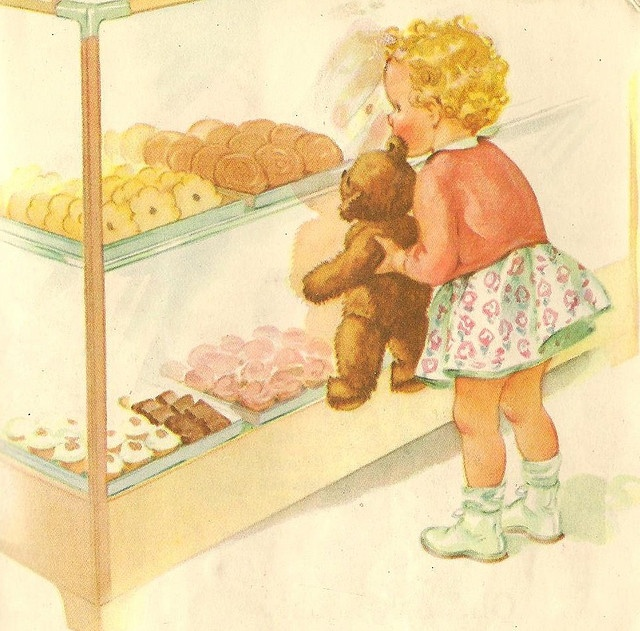 Cookies from vintage Dick & Jane book illustrated by Miriam Story Hurford