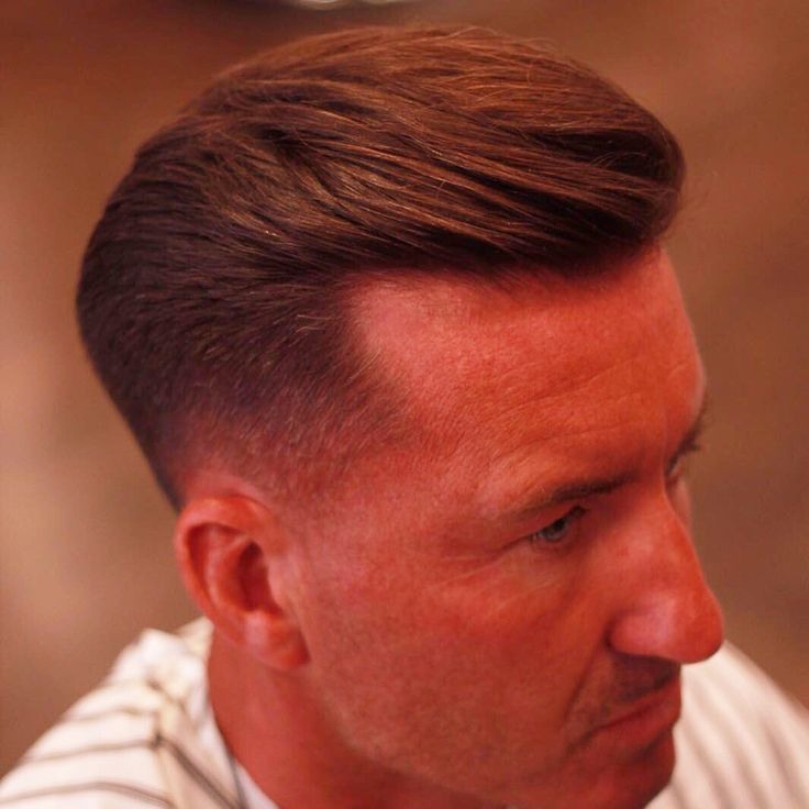 Low fade with classic side quiff