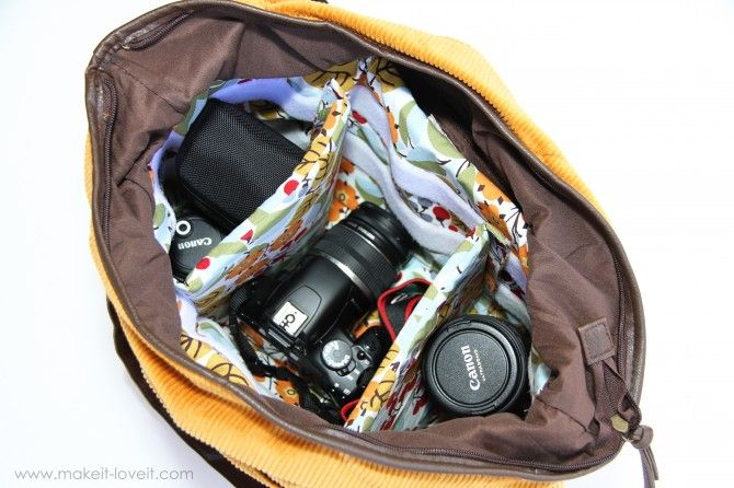 DIY purse-into-camera-bag... Yes please!: Bags Tutorials, Diapers Bags, Cameras Bags Insert, Bags Diy, Dslr Cameras, Pads Cameras, Diy Cameras Cases, Diy Cameras Handbags, Cameras Cases Diy