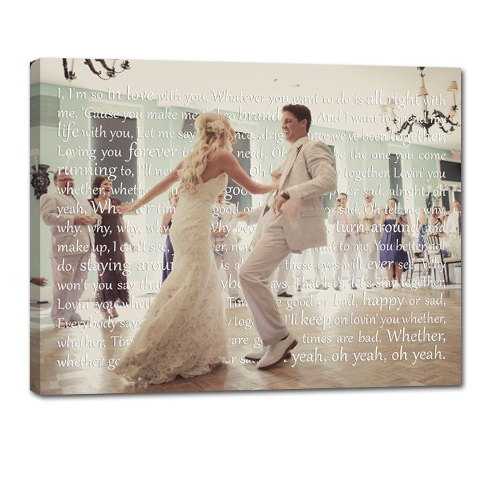 Holiday Gift Personalized Anniversary Wedding Photo First Dance Couples