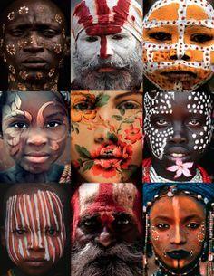 Resultado de imagen de etnias del mundo collage