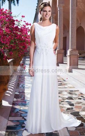 Cowl Sweep Train Jersey Natural Buttons Wedding Dresses grcf1001--Hodress