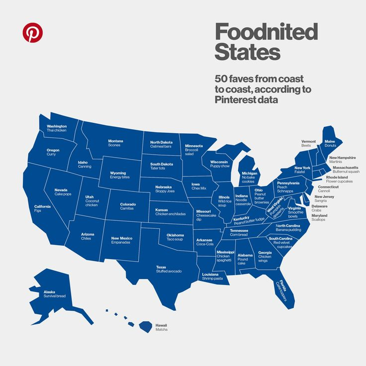 Here's a Map of the Most Popular Food in Every State — On Trend