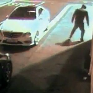 Hilarious moment thief hits himself with brick