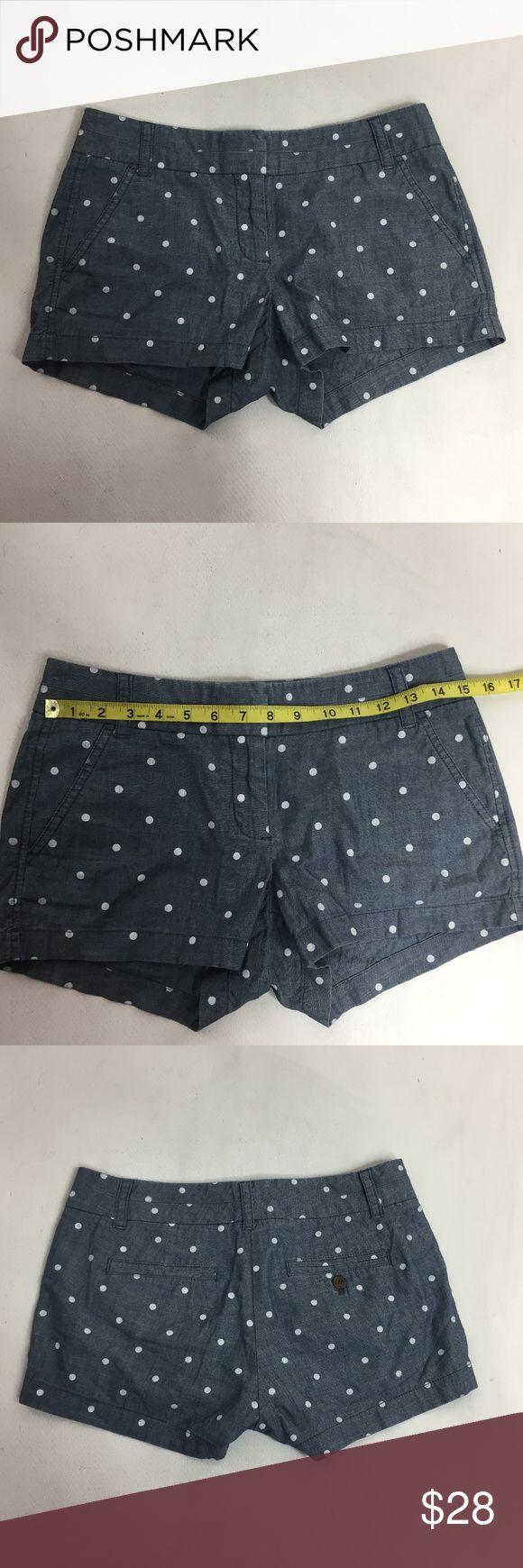 J CREW Womens Shorts Sz 2 City Fit Polka Dot Mini J. CREW Womens Shorts Style 50711  100% Cotton   Size: 2  Condition: gently worn  A5501zkE J. Crew Shorts