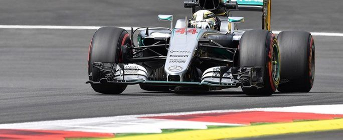 Mercedes driver Lewis Hamilton of Britain steers his car during the first training session prior to the Formula One Grand Prix, at the Red Bull Ring in Spielberg, Austria, on Friday, July 1, 2016. The race is scheduled for Sunday.  (AP Photo/Kerstin Joensson)