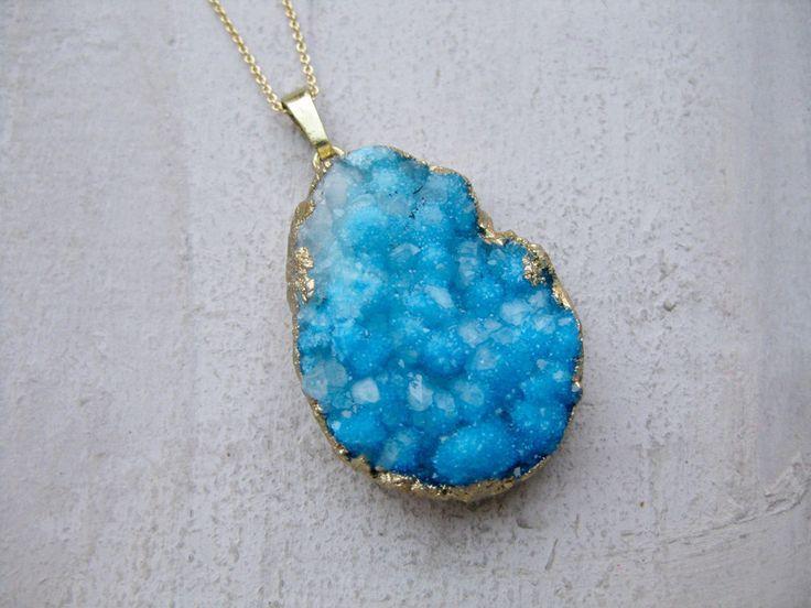 UNIKAT ✭ Quarzkristall-Wolke ✭ vergoldete Kette  von Mina Gold Design auf DaWanda.com