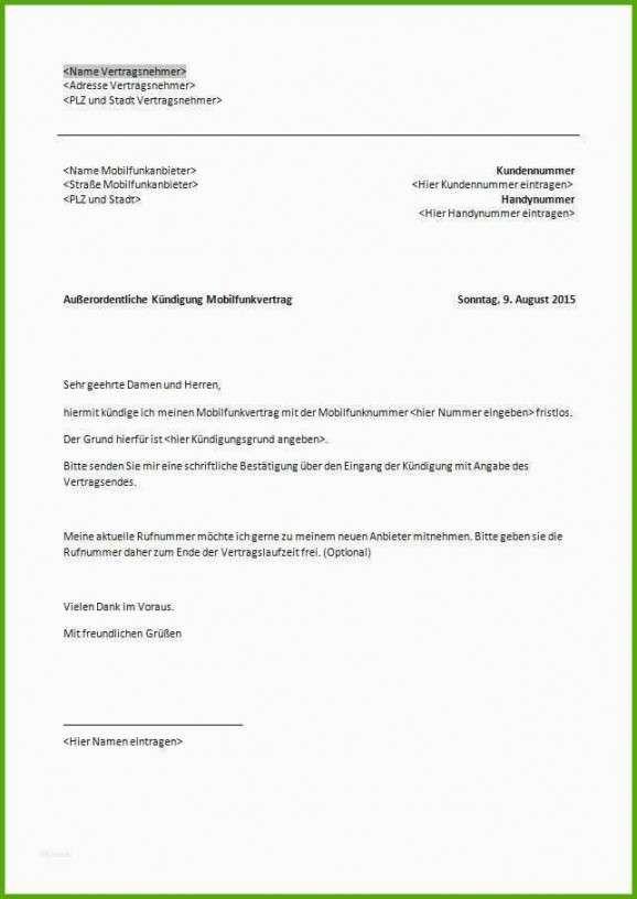Naturlich 1 1 Kundigung Vorlage Vorlagen Empfehlungsschreiben Kundigung
