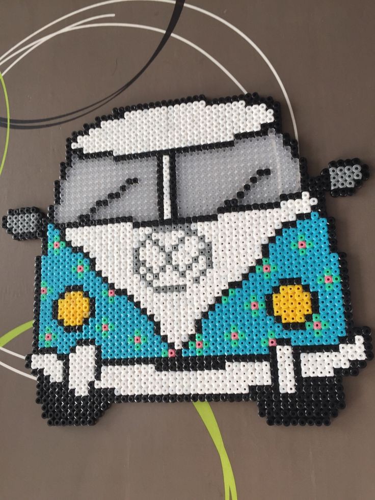 Hama beads VW flower bus