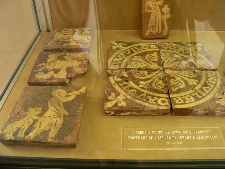 carreaux_vernisses de l'abbaye d'hautvillers (marne) France;