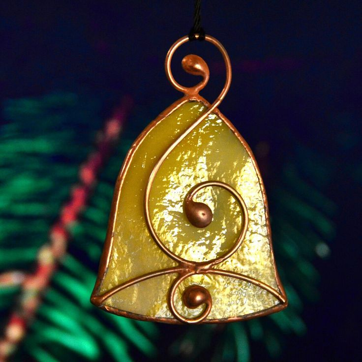 Christmas stained glass bell