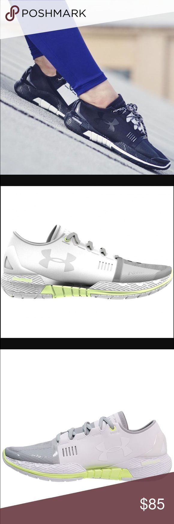 Under Armor SpeedForm AMP New pair of Under Armour training shoes. Great for workouts or running to the grocery store. They are the white and green color in the last three photos. Amazing shoes, only getting rid of them because I'm a trainer and am cleaning out my shoe closet!! Only worn indoors twice. Retail for $120 - selling them for $85! Under Armour Shoes Athletic Shoes