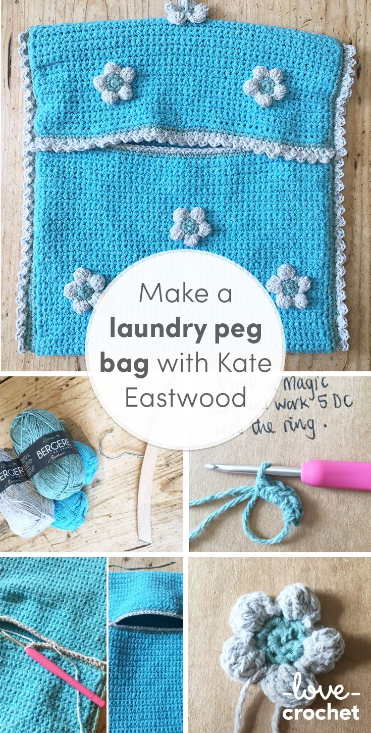 Whilst few of us would put laundry at the job of our 'Fun things to Do' list, there is something really rather lovely about being able to hang freshly washed clothes outside on the washing line, in the fresh air. Find the tutorial to this lovely laundry peg pag on the LoveCrochet Blog!