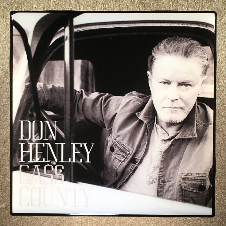 DON HENLEY Cass County Record Cover Coaster Ceramic Tile