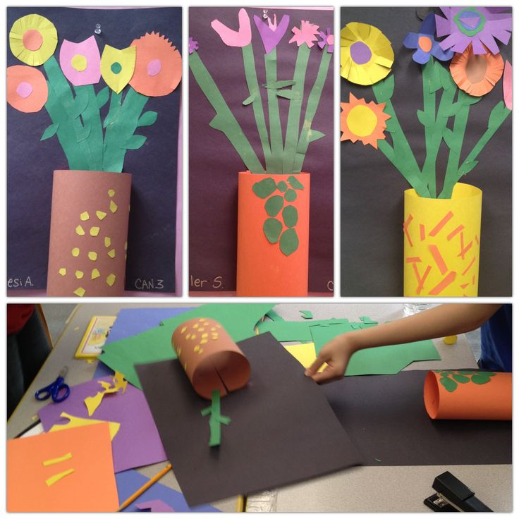 Featured 5 Spring Projects: Spring / Mother's Day Flower Art Lesson