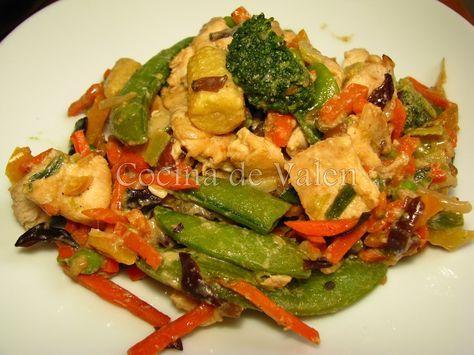 Pollo Salteado con Vegetales