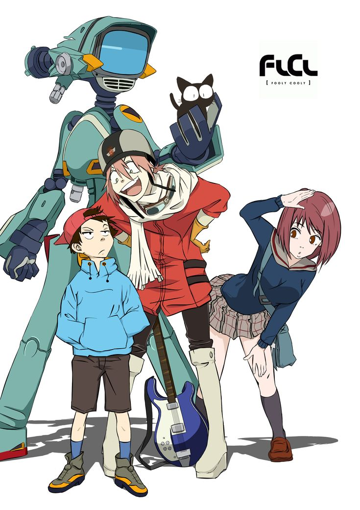 [ Fooly Cooly ] I just finished this anime, and I got to say, I fairly enjoyed it. Although, the show has a very confusing plot, there are multiple lessons on growing up and first love :)