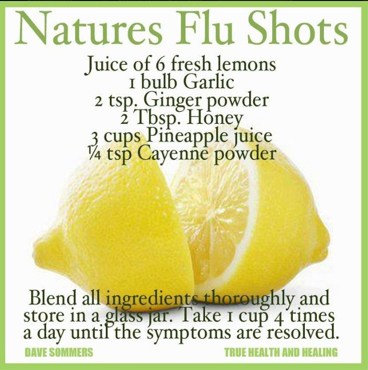 Nature's Flu Shot - I hate taking medicine; I'd rather try this home remedy any day! :)