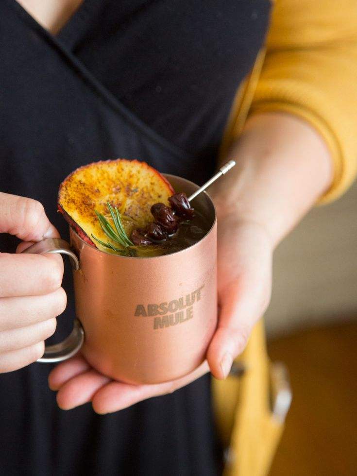 Absolut Apple Crisp Mule 1.5 parts Absolut Apple .5 parts Absolut Vanilla Juice from half a Lime Top with Ginger Beer