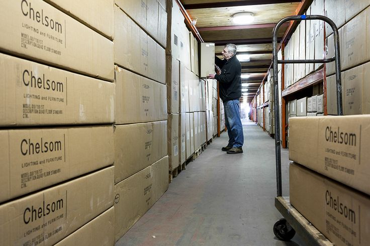 Behind the scenes- warehouse storage