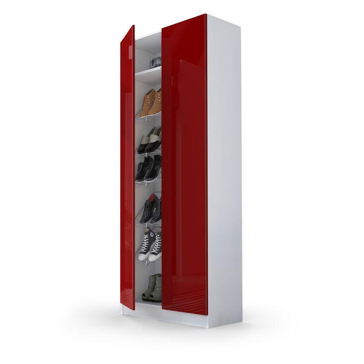 Vaasa Schuhschrank in verschiedenen Farben, Hochglanzfronten und mit Fächern für bis zu 15 Paar Schuhe von vladon.de