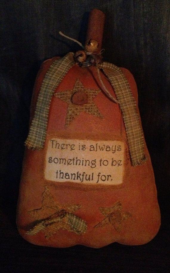 Primitive Harvest Pumpkin Tuck/Bowl Filler on Etsy, $9.95