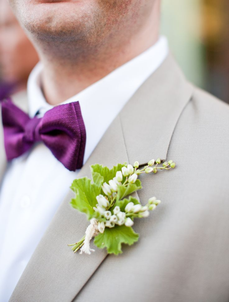 Lily of the Valley Boutonniere   Annie McElwain Photography   TheKnot.com