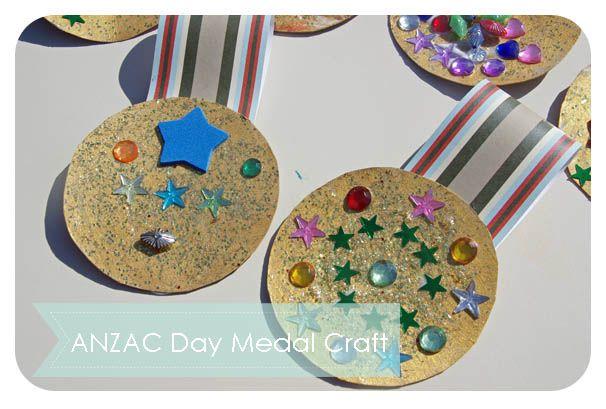 ANZAC Day Medal Craft - Triple T Mum