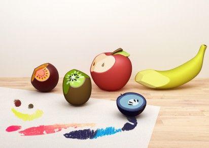 Fruit crayons.
