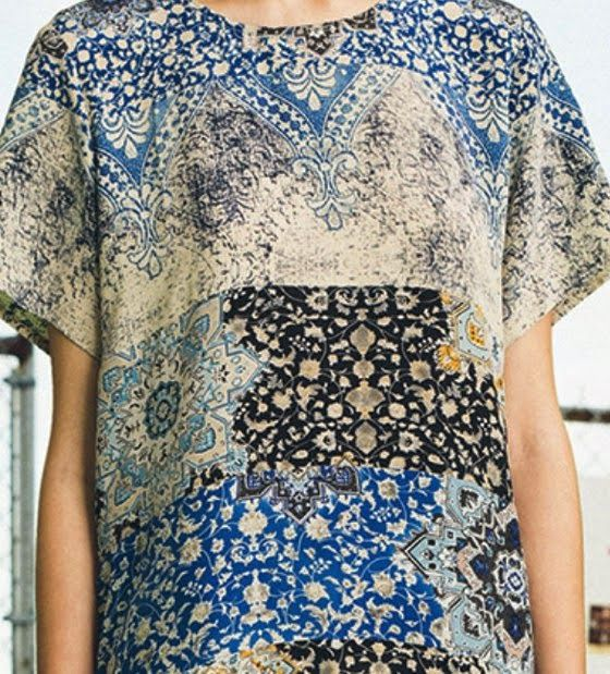 patternprints journal: PRINTS, PATTERNS AND SURFACE EFFECTS: BEAUTIFUL DETAILS FROM PARIS FASHION WEEK (WOMAN COLLECTIONS SPRING/SUMMER 2015) / Sea