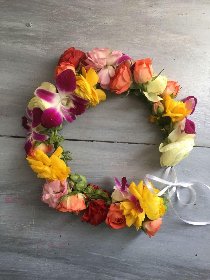 CBP194 wedding colorful flowers crown/ Coronas de flores coloridas
