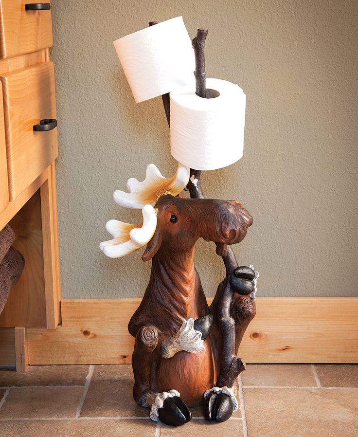 1000 images about moose toilet paper holder on pinterest wall mount log furniture and for Bathroom butler toilet paper holder