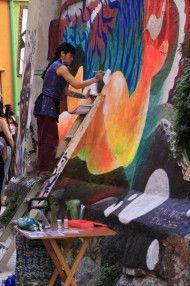 Wandmalerei in Valparíso Aus dem Album Valparaíso