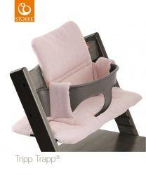 Stokke® Tripp Trapp® Stoelverkleiner Pink Tweed (voor als ze 6 maanden is, soms gratis bij stoel)