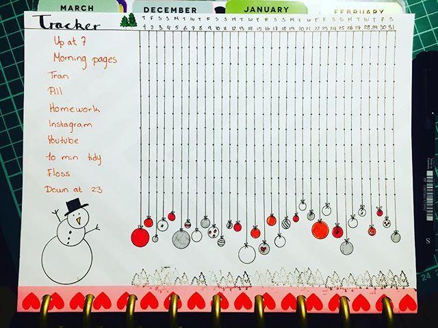 Just finished my tracker for December ☃️#christmas #stamps #bulletjournalinahappyplanner #bulletjournal #bujo #happyplanner
