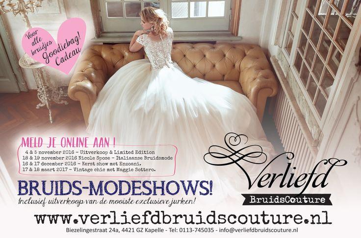 Modeshows bij Verliefd BruidsCouture te Kapelle 2016/2017