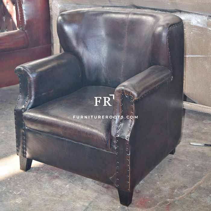 Pure Leather Wing Back Sofa With Images Leather Furniture Design Leather Furniture Leather Living Room Furniture