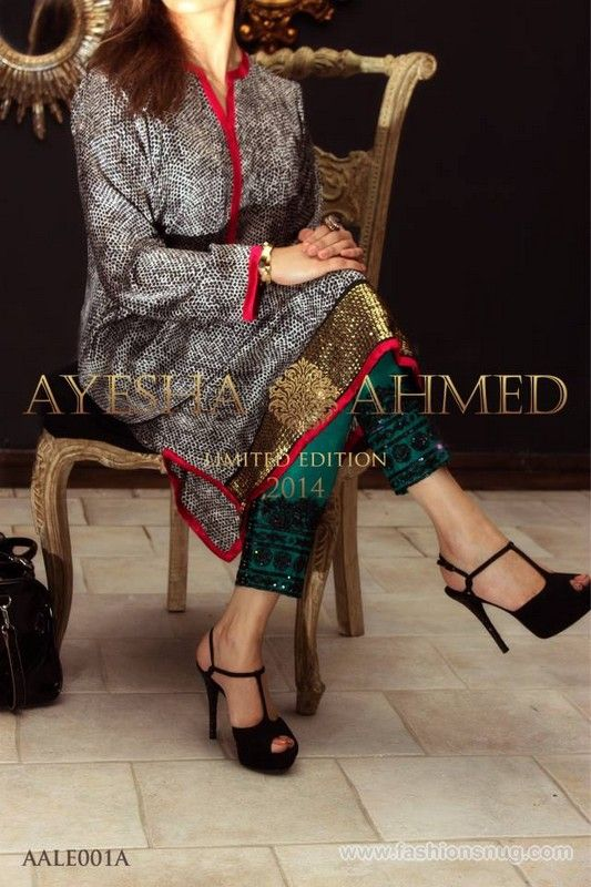 Ayesha Ahmed Party Wear Collection 2014 In Stores