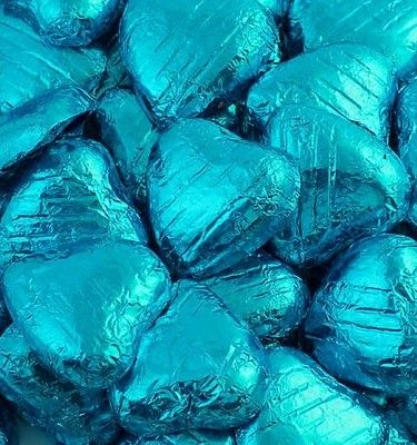 Chocolade Harten Turquoise