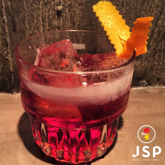 Pisco Negroni***** Barsol Pisco/Cinco Sherry Blend/Campari Cinco JSP Let's rock \m/