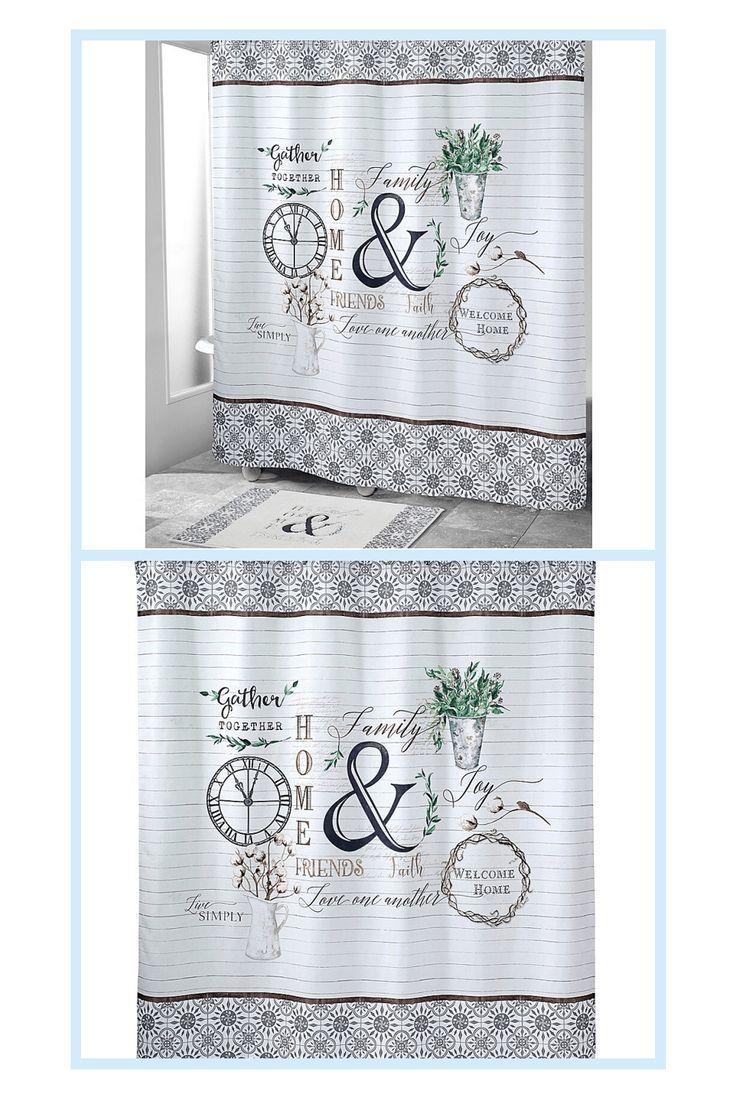Avanti Modern Farmhouse Shower Curtain Multi in 2020