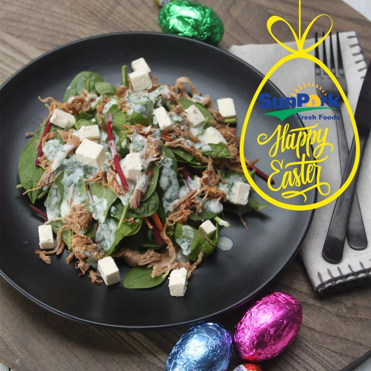 Pulled Pork & Feta Salad- Overdosed on chocolate this Easter? Try our Pulled Pork and feta salad for a healthy meal that will please the whole family!